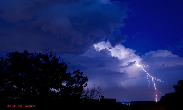 Lightning south of Roslindale