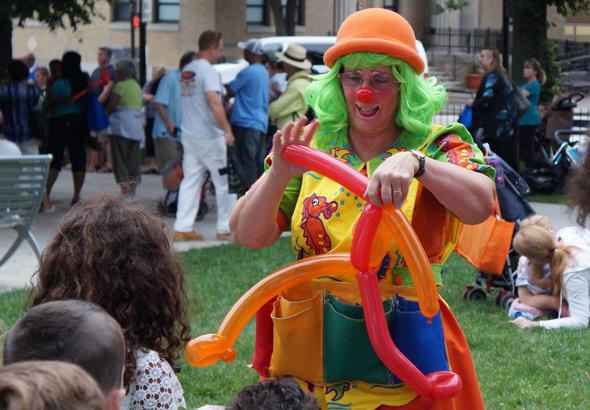 Balloon animal maker in Roslindale's Adams Park