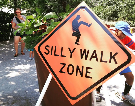 Silly Walks on the Rose Kennedy Greenway in Boston