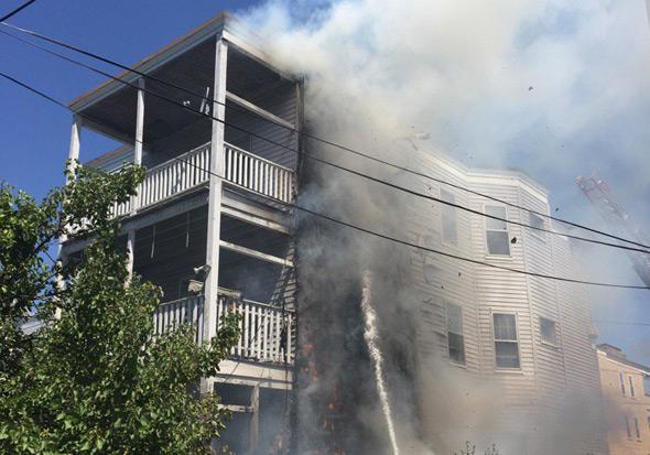 Fire on Sudan Street in Dorchester