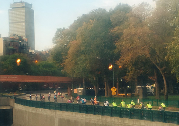 Bicycles on Storrow Drive in Boston