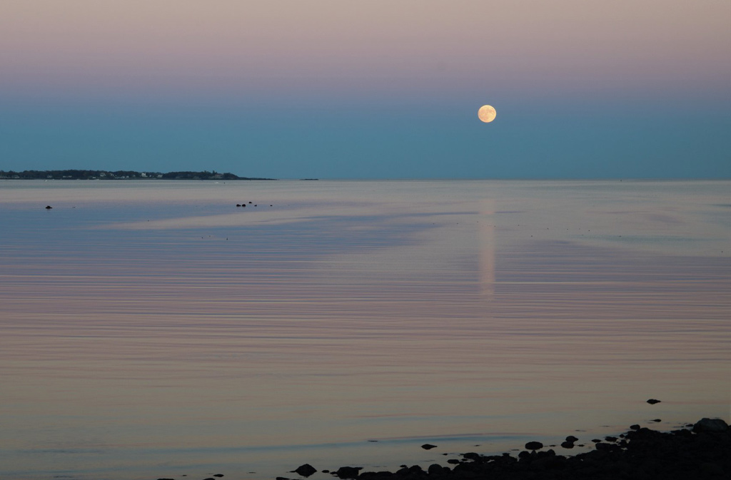 Supermoon over Nahant