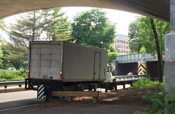 Stupid truck on Storrow Drive