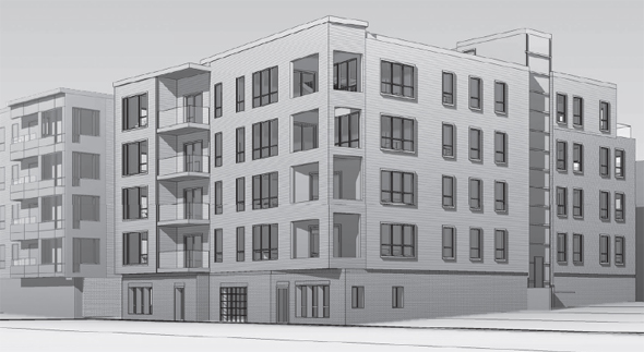 Proposed condo building at 327 W. 1 St. in South Boston