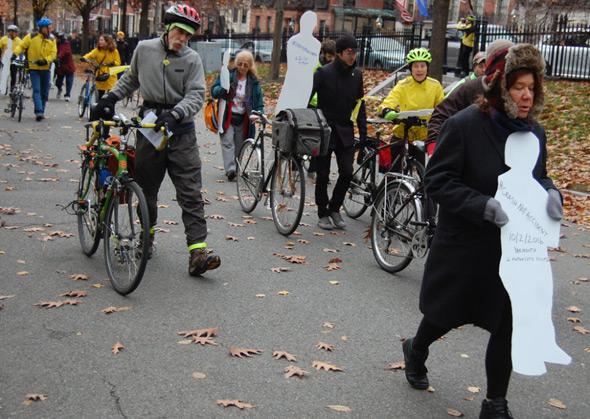 White ghost profiles in Boston Common