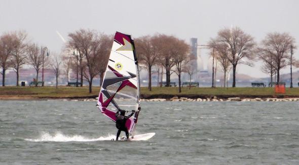 Wind surfer off South Boston