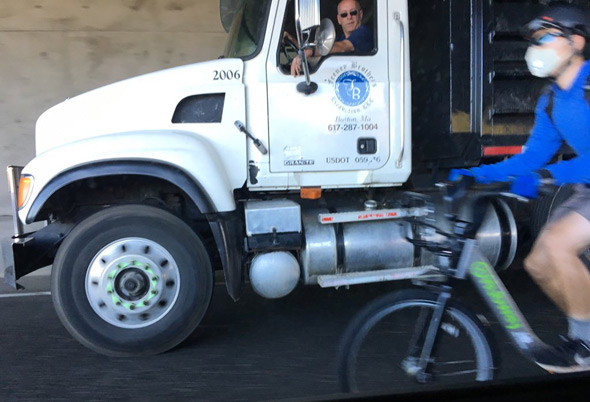 Bicyclist on I-93