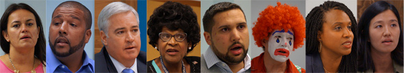 Eight candidates for at-larg seats
