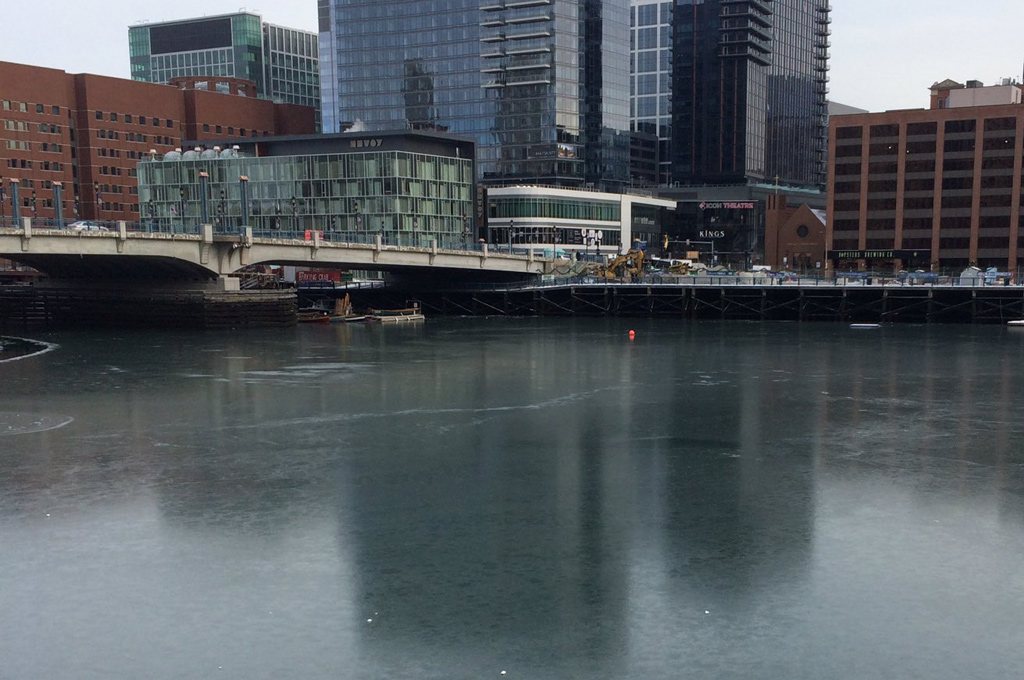 Frozen Fort Point Channel