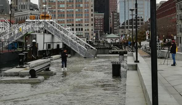 King Tide on Long Wharf