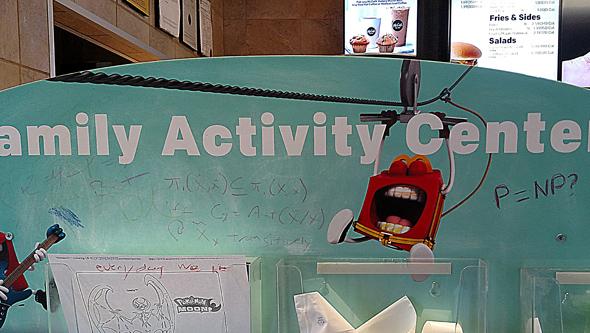 Mathematical equations in Brighton McDonald's