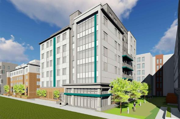 Architect's rendering of 30 Penniman Rd.