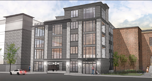 Rendering of 610 Rutherford Ave. building