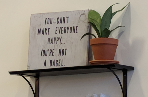 You can't make everyone happy: You're not a bagel