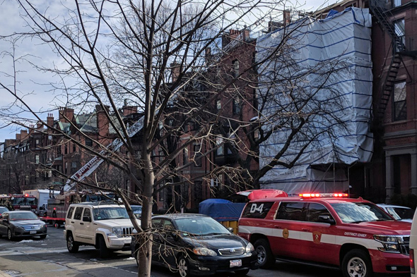 Beacon Street collapse scene