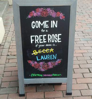 Free rose for Lauren