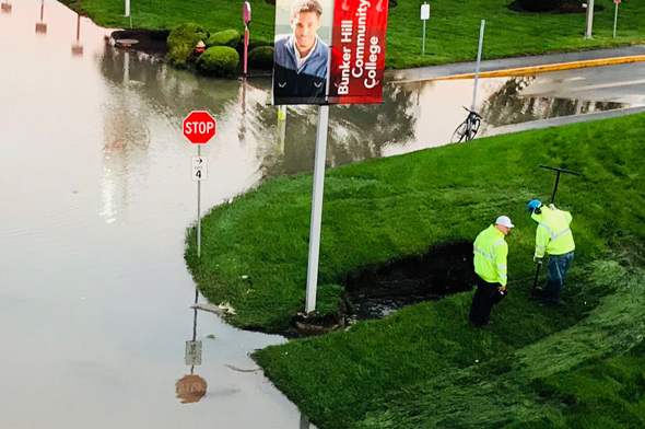 Flooding at Bunker Hill Community College