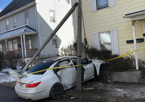 Car smashed into house in Hyde Park