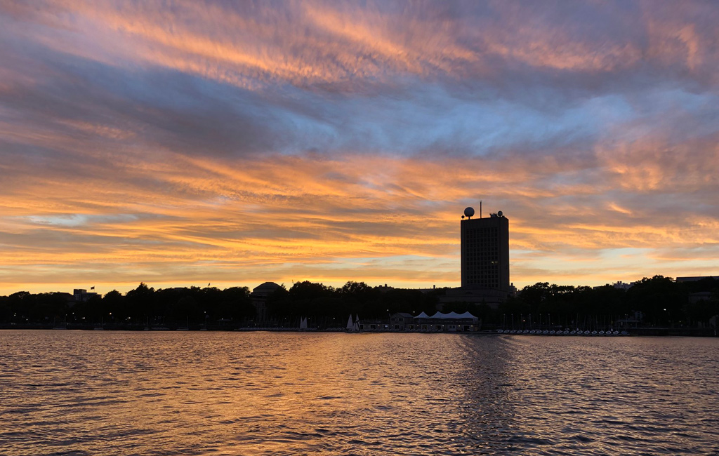 Sunset over MIT