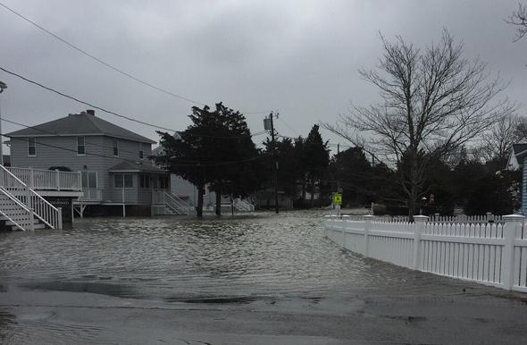 Flooded Duxbury street
