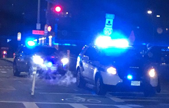 At Mass. Ave. crash scene
