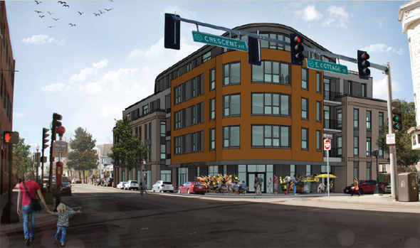 Architect's rendering of 951 Dorchester Ave.