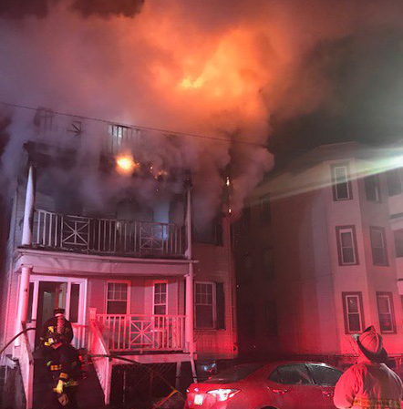 14 Evelyn St. fire
