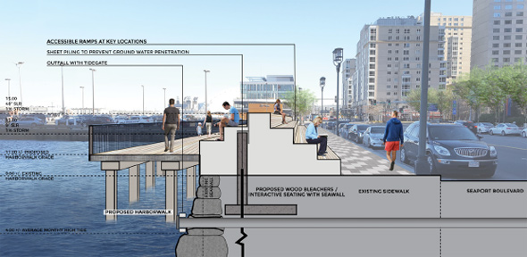 How to protect Seaport Boulevard from flooding