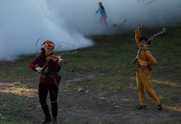 Performing near the fog