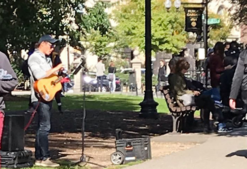 Guitarist in the Public Garden