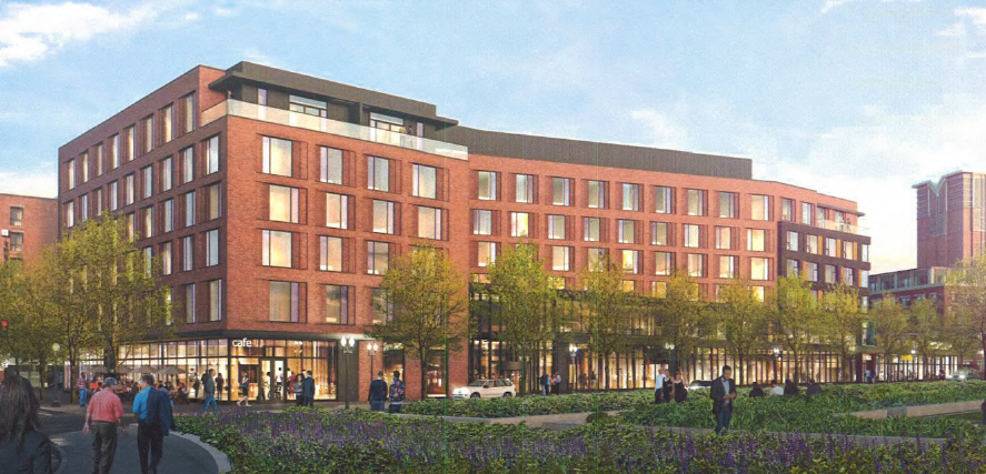 Architect's rendering of Haymarket hotel