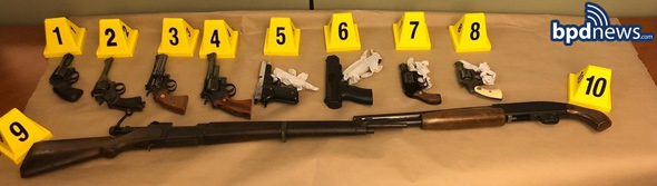 All of the seized guns