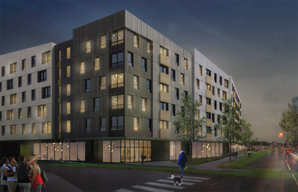 Architects rendering of 500 River St.