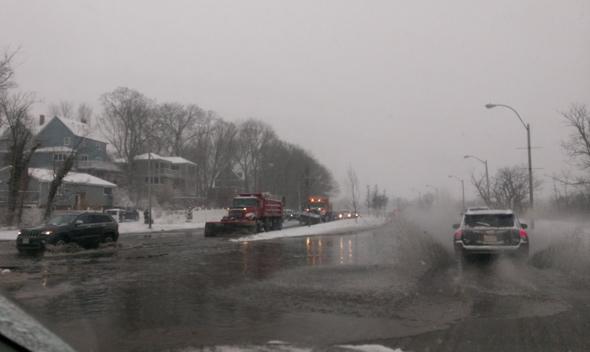 Flooded Morrissey Boulevard