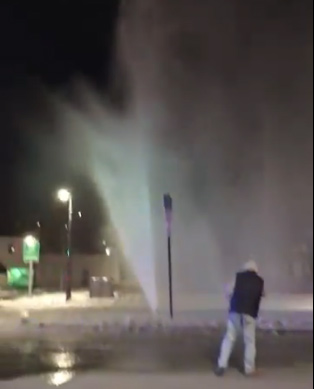 Geyser on Huntington Avenue