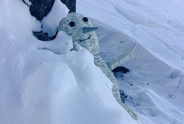 Snowman on the Esplanade