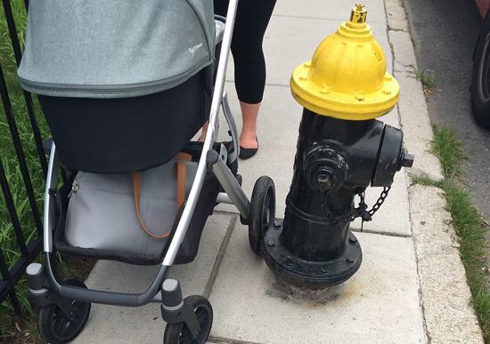 Inaccessible sidewalk in Jamaica Plain