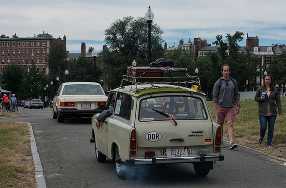 Trabant on Boston Common