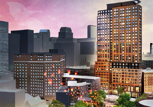 Proposed tower on Tremont Street
