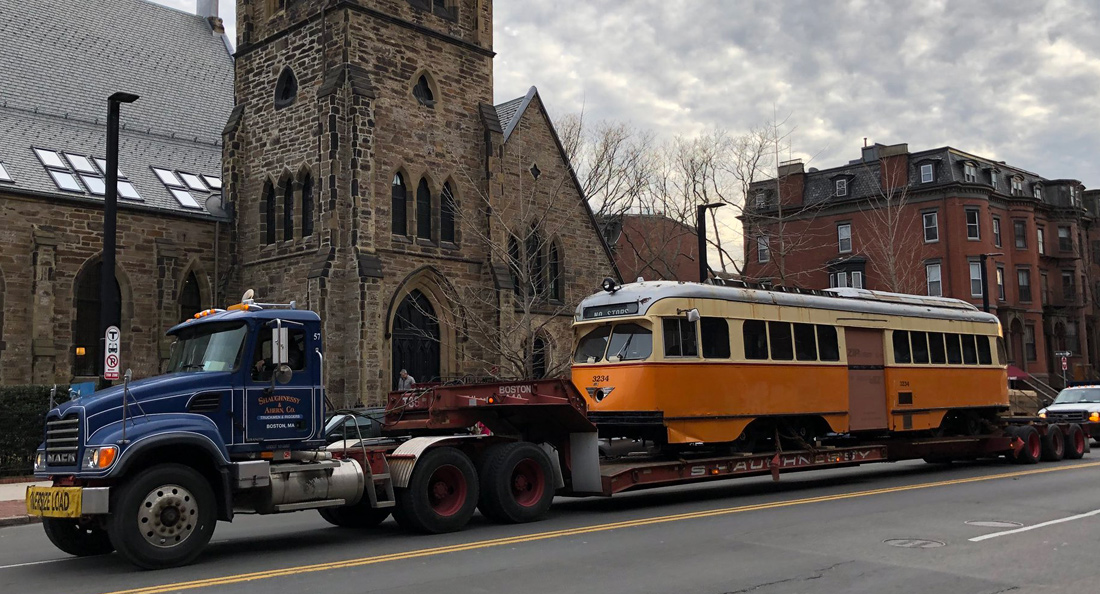 Trolley on Tremont Street