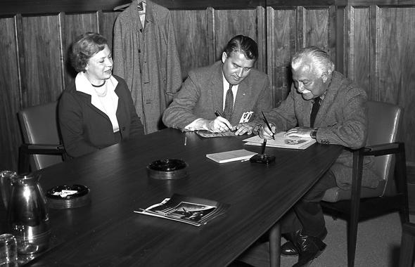 Von Braun, Arthur Fiedler and Ellen Fiedler