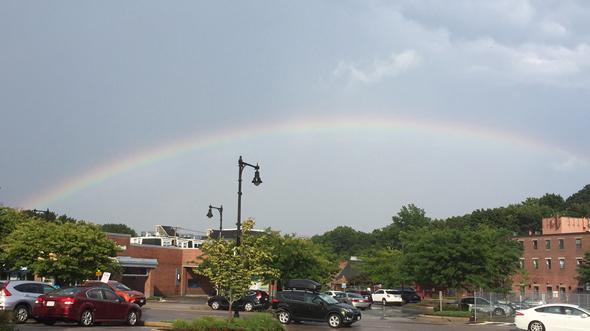 Rainbow over West Roxbury