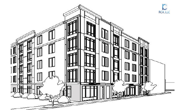 Architect's rendering of proposed 1970 Dorchester Ave. building