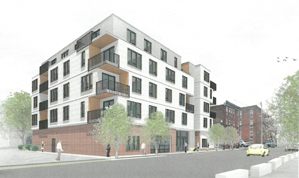 Architect's rendering of 28-30 Geneva Ave.