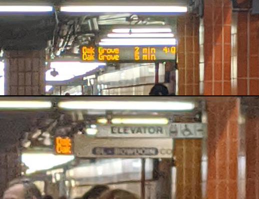 Signs at State Street on the Orange Line
