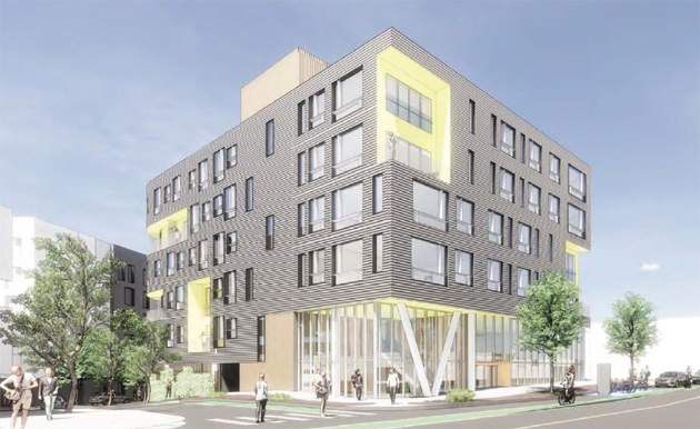 Architect's rendering of proposed 449 Cambridge St. building