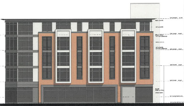 Architect's rendering of 706 Dudley St.