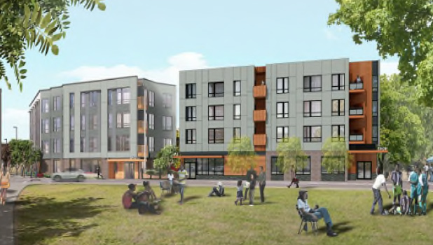 Architect's rendering of proposed 75 Dudley St.