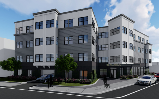 Architect's rendering of 775 Morton St.