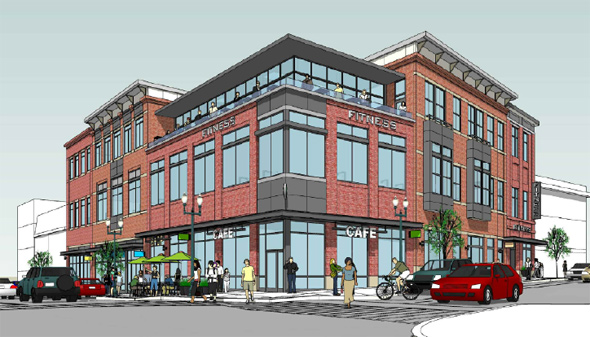 Architect's rendering of proposed Chelsea Street building